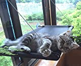 Ahhobuy Cat Window Perch - Durable and Breathable Window Mounted Cat Bed Pet Bed Sunny Seat Cat Bed Cat Hammock