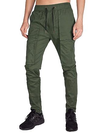 026da886f28c Italy Morn Herren Cargo Chino Casual Hose Stoff Hose Cargohose Slim Fit   Amazon.de  Bekleidung