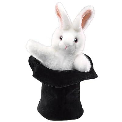Folkmanis Rabbit In Hat Hand Puppet: Toys & Games [5Bkhe0502340]