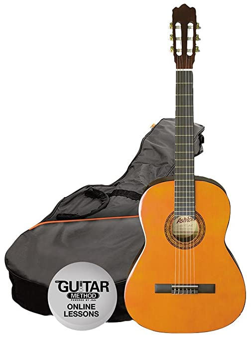 Guitarra, acústica + bolsa + lecciones ámbar//Guitarra, acústica + ...