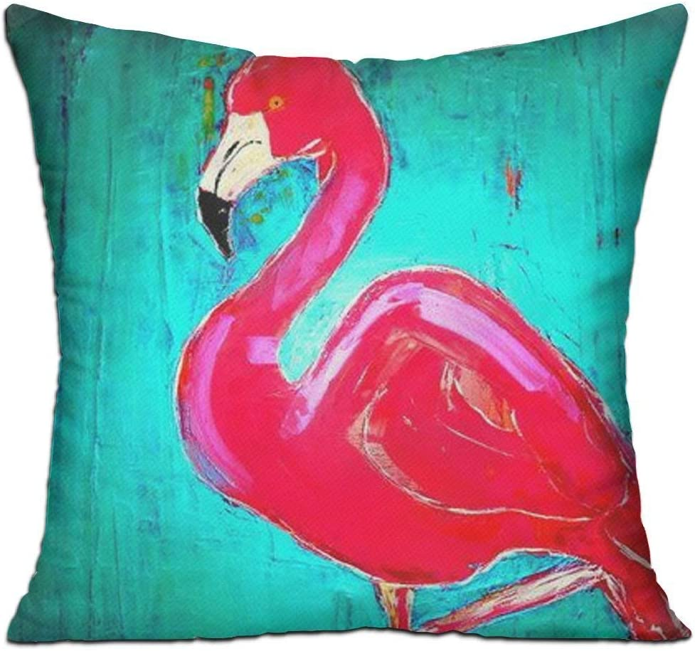 Dozili Cushion Cover Pillow Cover Elegant Flamingo Decorative Customized Pillow Case Sofa Seat Car Pillowcase Soft 18x18 inch