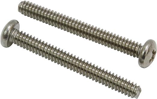 Qty 100 Stainless Steel Phillips Pan Head Machine Screw #4-40 x 1-3//4