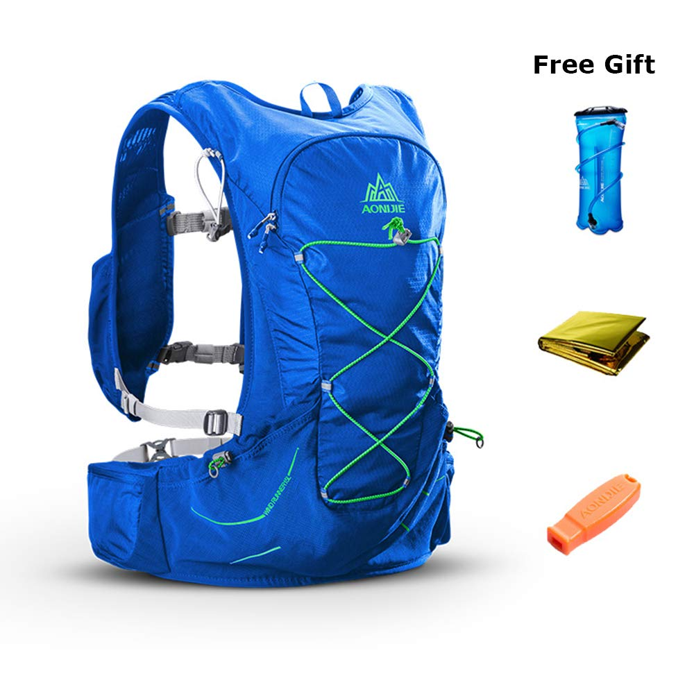 POJNGSN Outdoor Lightweight Hydration Backpack Rucksack Bag Free 2L Water Bladder for Hiking Camping Running Race Set-C by POJNGSN (Image #4)