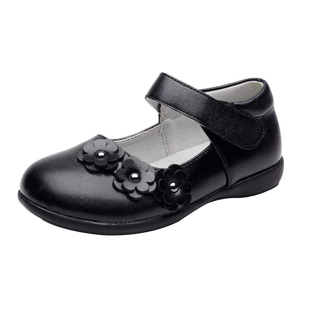 Chiximaxu Maxu Girl Uniform Leather Mary Jane Flat Shoes(Toddler/Little Kid/Big Kid) CB-986