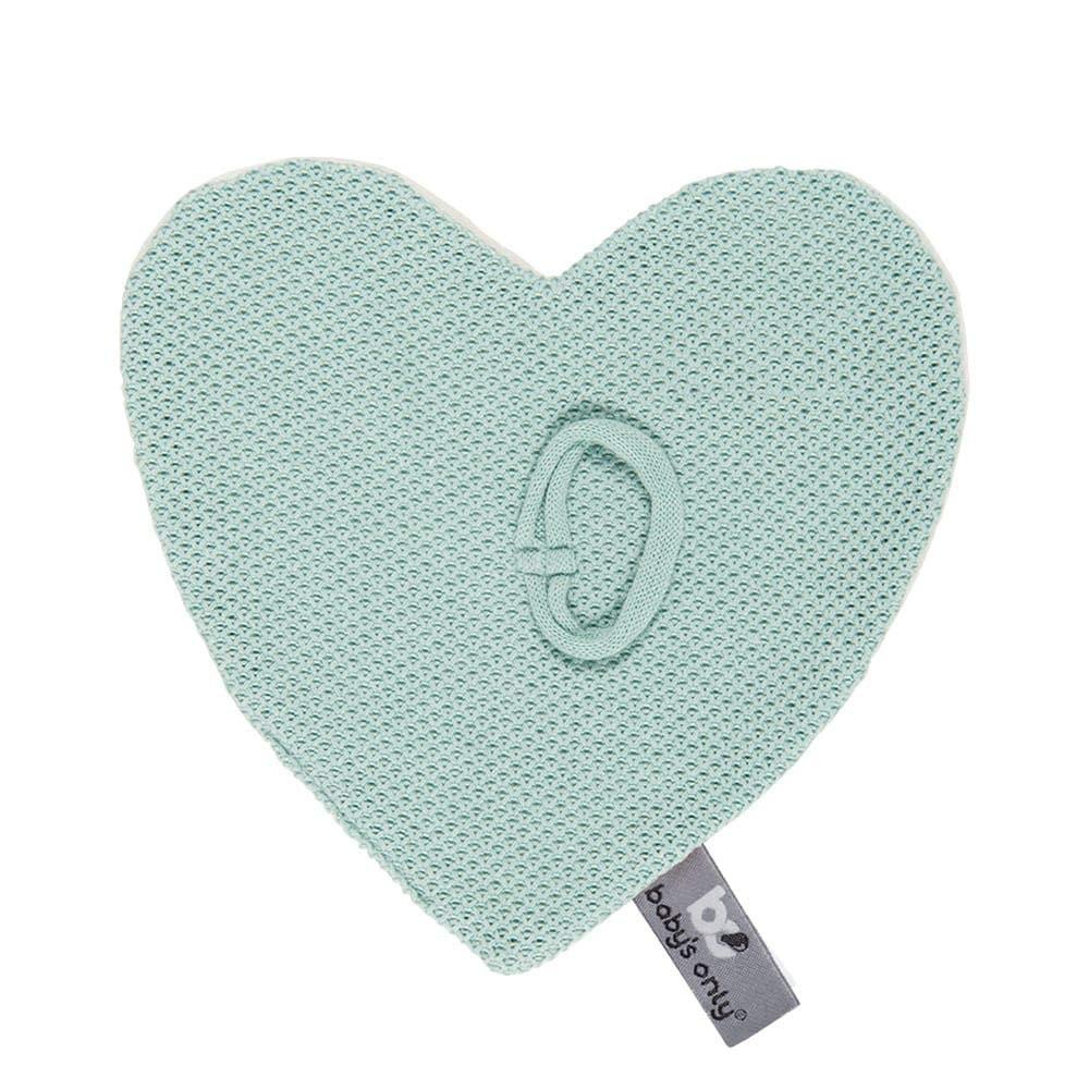 20x20 cm f/ür Jungen und M/ädchen Blush BO Babys Only Schnullertuch Herzf/örmige Nuckeltuch aus Baumwolle mit Teddystoff