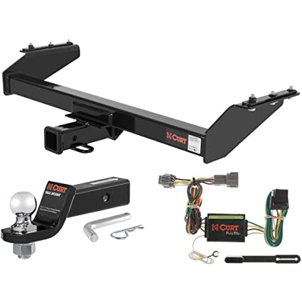Amazon.com: CURT Cl 3 Hitch Tow Package with 2