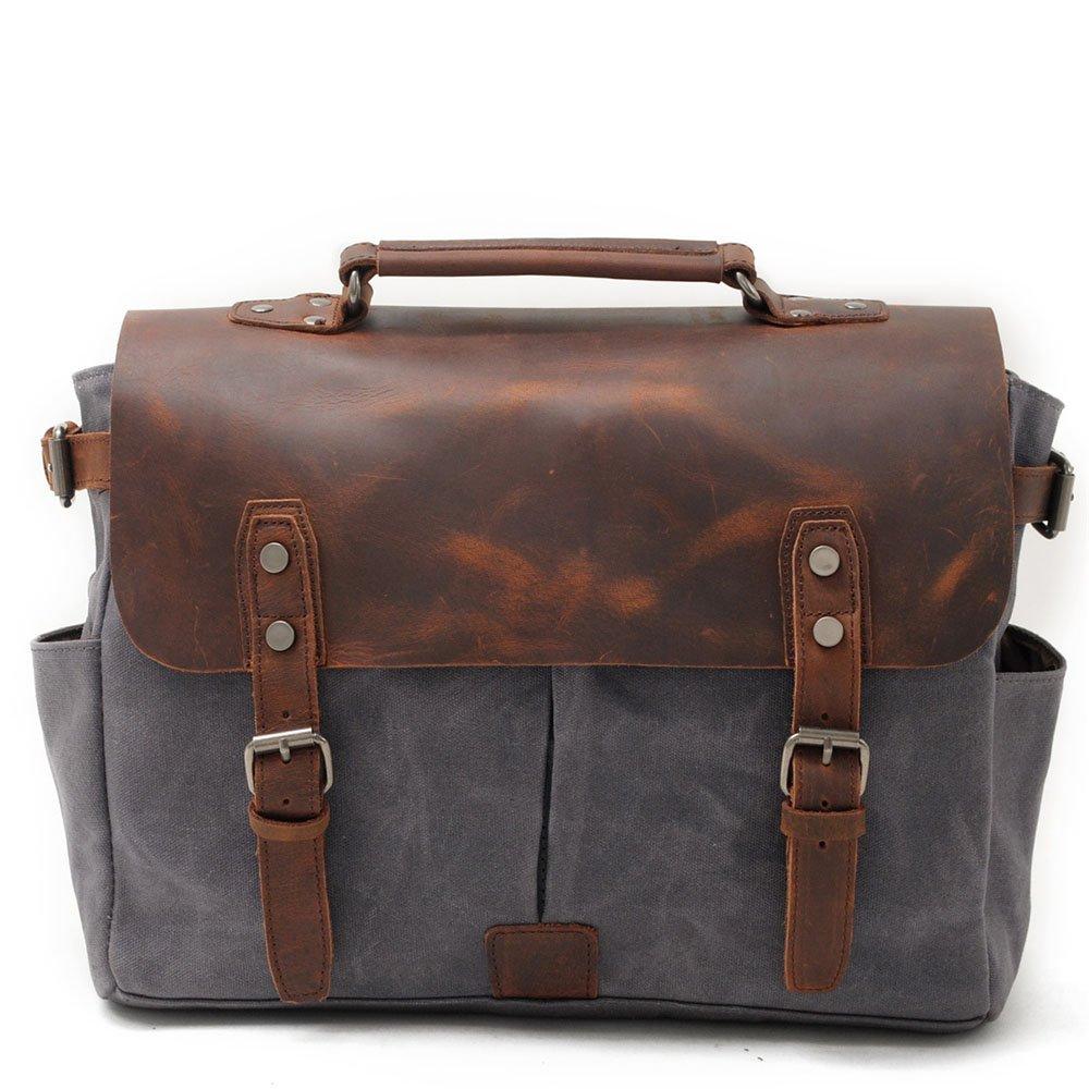 Simple Retro Large Capacity Zipper Waterproof Camera Bag Canvas Shoulder Messenger Bag Mens Shoulder Bag