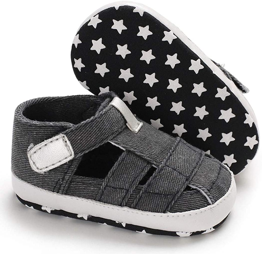 Baby Boy Sandals Anti-Slip Sole First Walkers Summer Shoes Infant Sandals for Toddler Girls(0-18 Months)