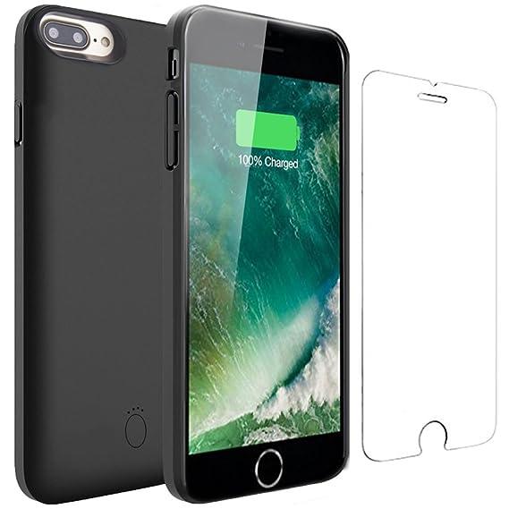 Veepax iPhone 7 Plus/8 Plus Akku Hülle - 7500mAh Zusatzakku Ultradünnes Auflade Handyhülle 200% Extra Powerbank Ladegerät Bat