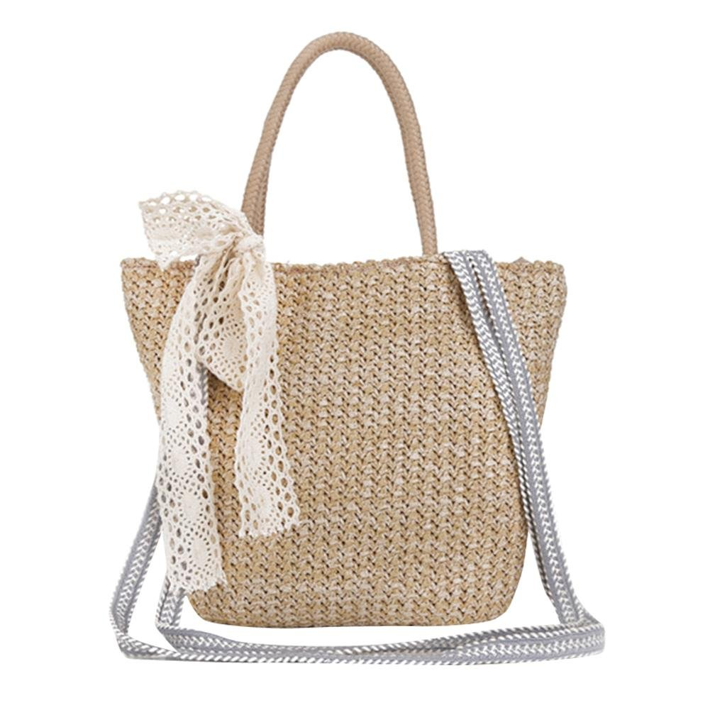 29e37e6441 Widewing Retro Women Straw Messenger Handbag Beach Girls Tote Shoulder  Crossbody Bag  Amazon.co.uk  Shoes   Bags