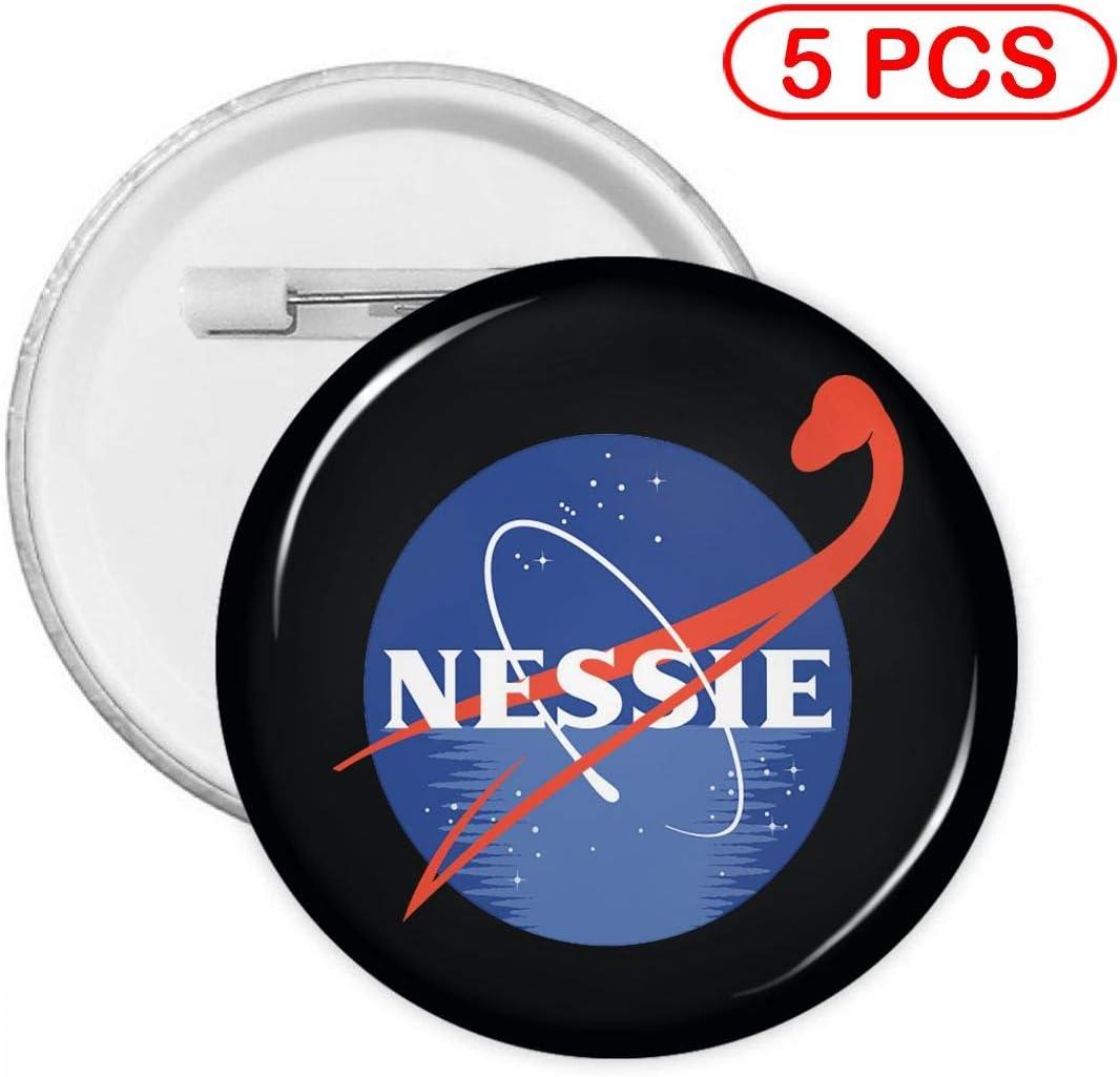 Metal Pins Circular Badge Holder Clothing Decoration Gift Multi Pack Nessie Round Badge