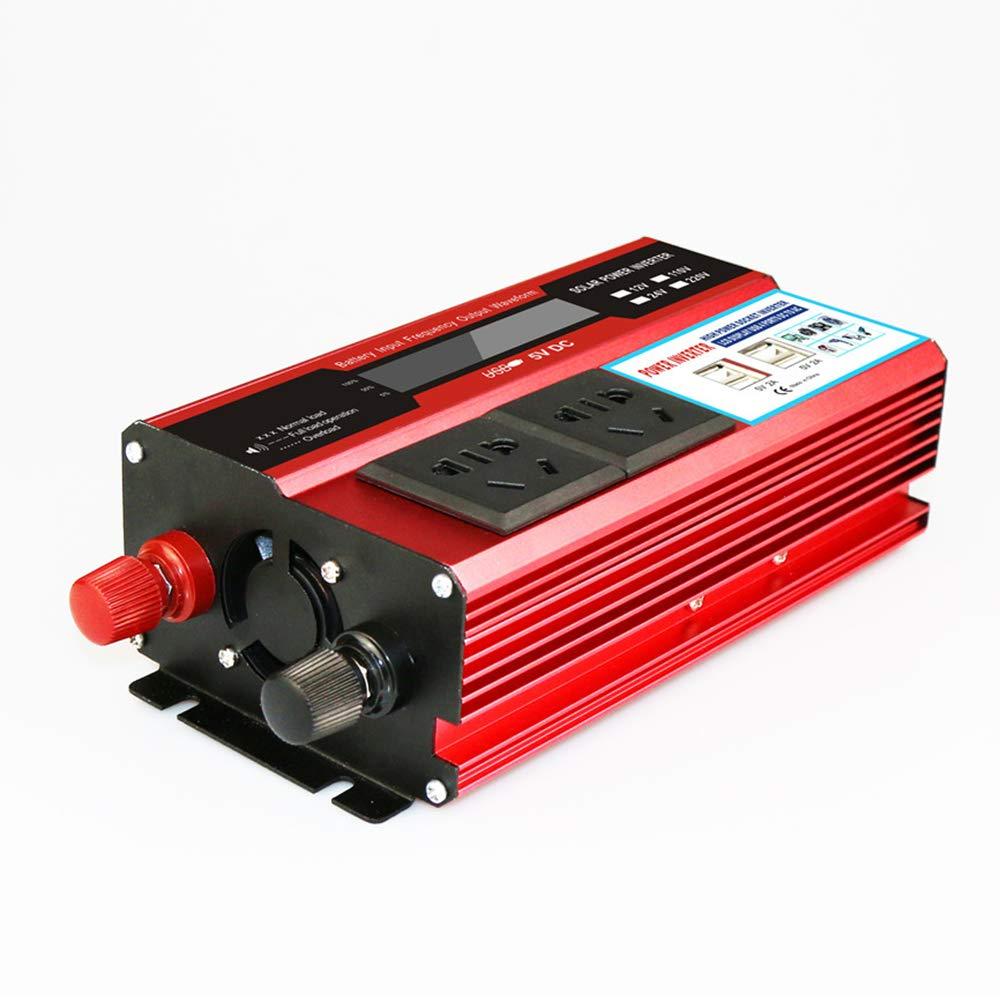 KKmoon Inversor de Corriente de 12v a 220v Convertidor 2000W de Onda Modificada Transformador