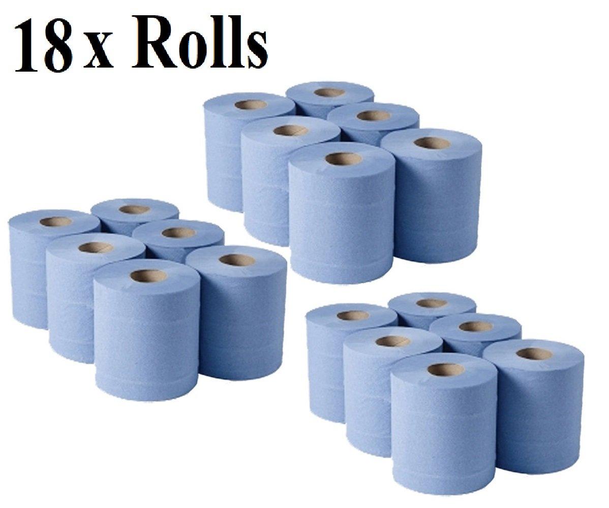 Swift Clean® de alta calidad 2 capas en relieve centro feed/toalla/toallas de mano de papel Tejido limpiador azul apto para garaje, restaurante, oficina, ...