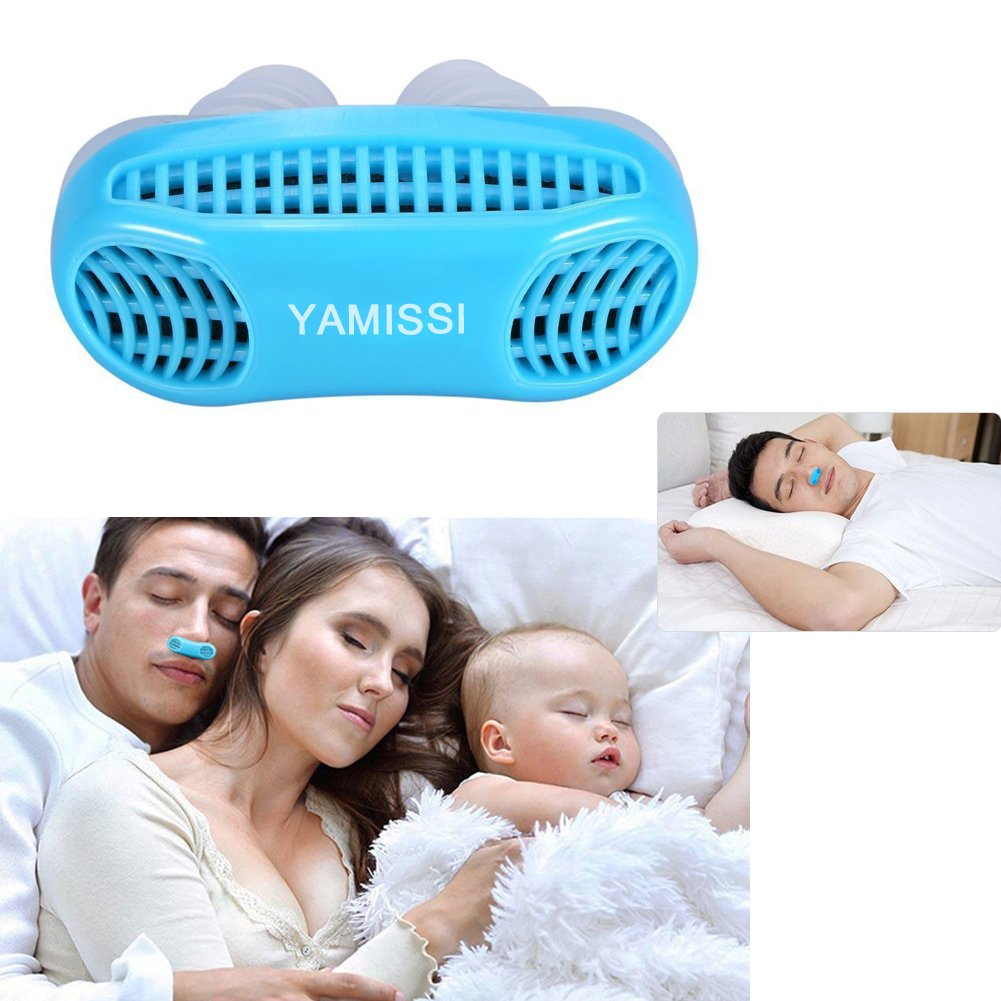 Anti-Snoring Device:Sleep Aid- 50% OFF SALE Airing,2 Pack of Silicone Air Purifier Filter Snore Stopper Device Chin Strap,Stop Snoring,Get the Restful Night you Deserve,with Travel Case -Yamissi by Yamissi (Image #6)