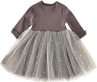 Jimmackey Ragazza Vestito Bambine Tutu Abito Stelle Paillettes Netto Filato Principessa Dress