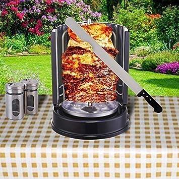 Parrilla de kebab de 1400 W, parrilla para pollo con pincho ...