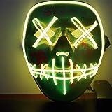 Immoch Halloween LED Máscaras Adultos LED Mask para Fiesta la Navidad Cosplay Festival Máscaras Brillan en
