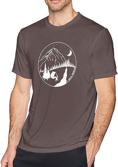 Odio a la Gente Acampar Camiseta para Hombre Cuello Redondo Casual ...