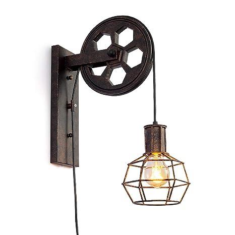 Fanmuran Lámpara de Pared Aplique E27 Lámpara de Pared Vintage Retro Iluminación de Pared Iluminación Creativa para Escalera Pasillo Cafe Bar ...
