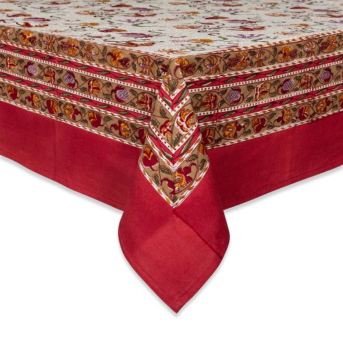 Couleur Nature Fleurs des Indes Tablecloth, 71-inches by 128-inches, Multi Color by Couleur Nature
