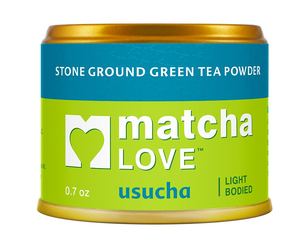 Matcha Love Ceremonial Green Tea Usucha 0.7 Ounce Canister (Pack of 1) Unsweetened Zero Calories USDA Organic No Artificial Preservatives Antioxidant Rich