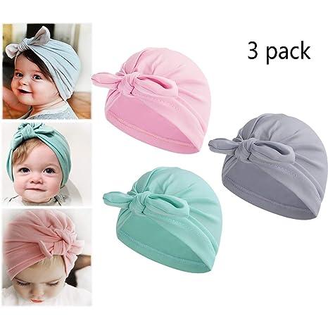 Newborn Toddler Kids Baby Bow Knot Infant Cotton Soft Warm Turban Hat Beanie Cap