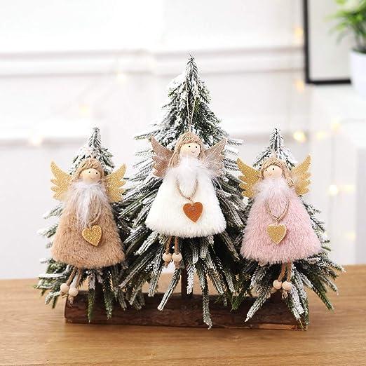 STEFANAZZI 4 pi/èces D/écorations Sapin de No/ël D/écorations /à Suspendre pour d/écorer la Maison Anges en c/éramique Assortis