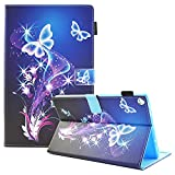 Fire HD 8 Case, USTY Slim Fit Folio Smart Stand PU Leather Case with Auto Wake/Sleep Protective Cover for All-New Amazon Fire HD 8 in Tablet (6th /7th Generation, 2016/2017 Release), Dream Butterfly