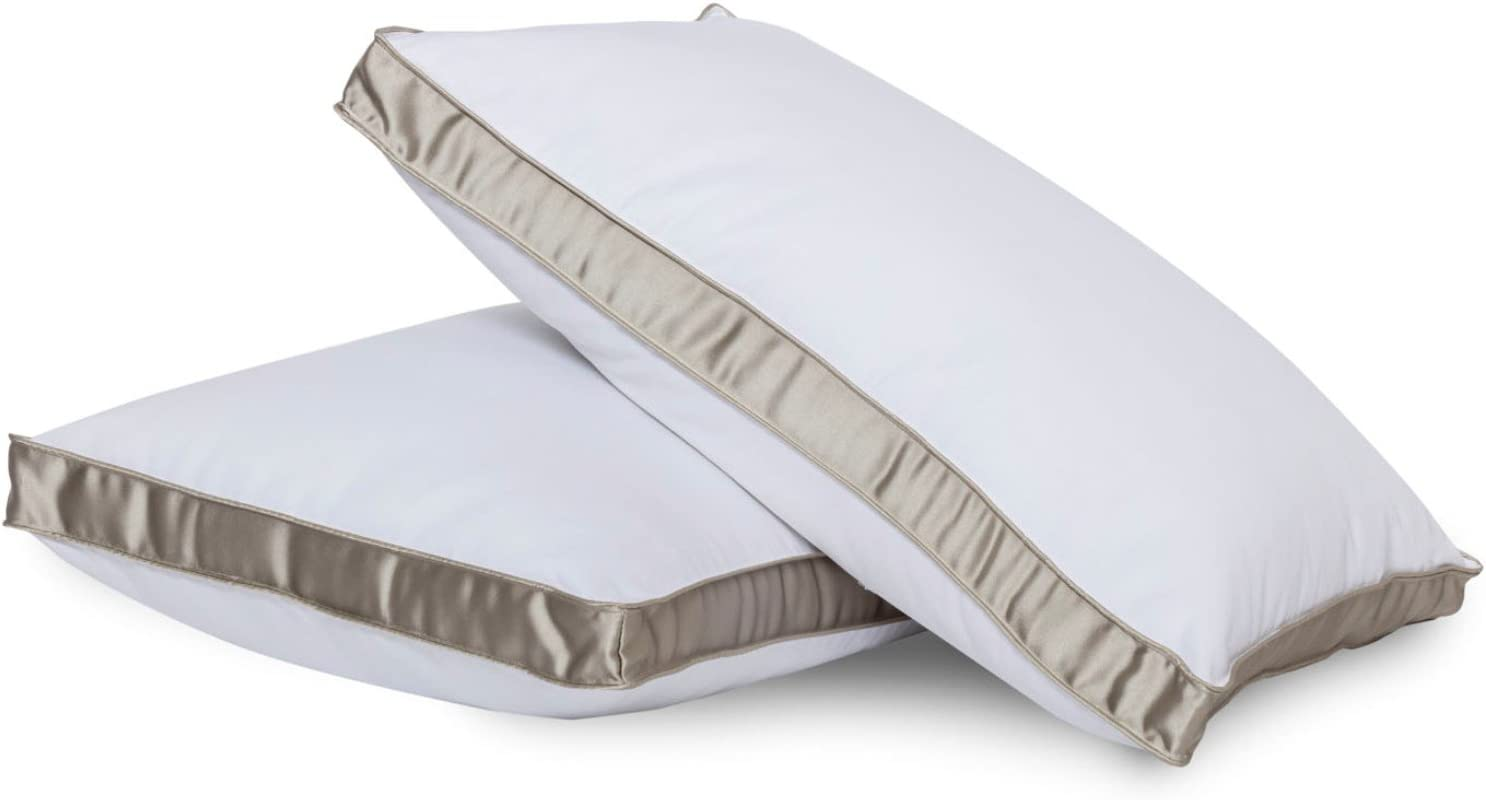 Shop Bedding Bed Pillow for Sleeping - Down Alternative Medium Firm Side Sleeper Pillow, King Size (1 Per Pack) Gusseted Pillow by Gavotte Home