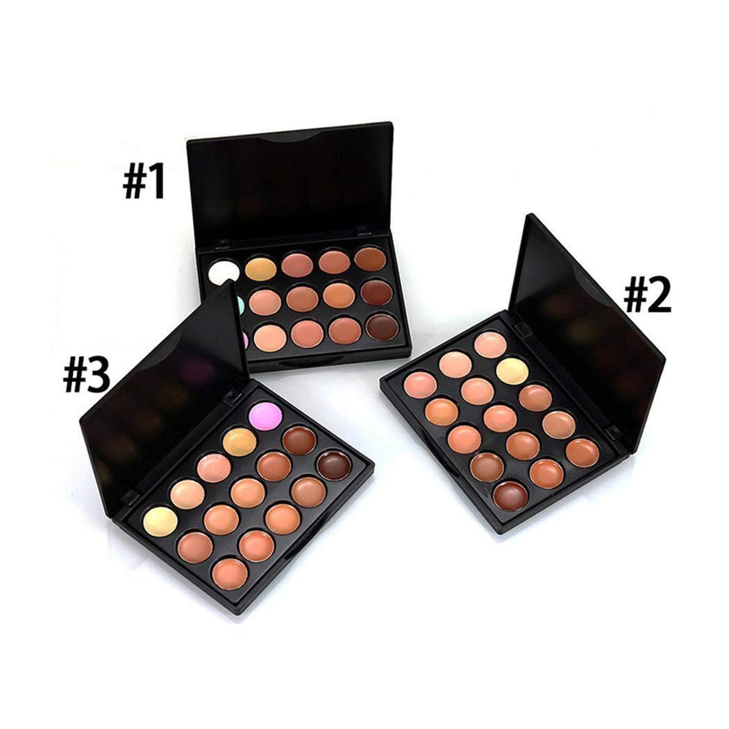 Swteeys 15 Farben Concealer Palette Gesichtscreme Make-up Pinsel Drop Puff Set Make-Up Sets