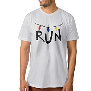Stranger Things Will Run Men Fashion Tee T Shirt