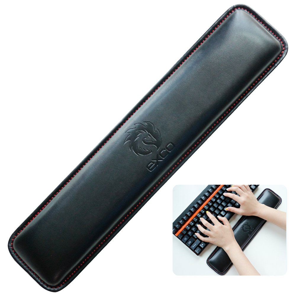 Wrist Rests,Keyboard Wrist Rest Pad,Pink PU Leather Palm Support Wrist Pad Wrist Cushion for Laptops// Notebooks// MacBooks////PC//Computer