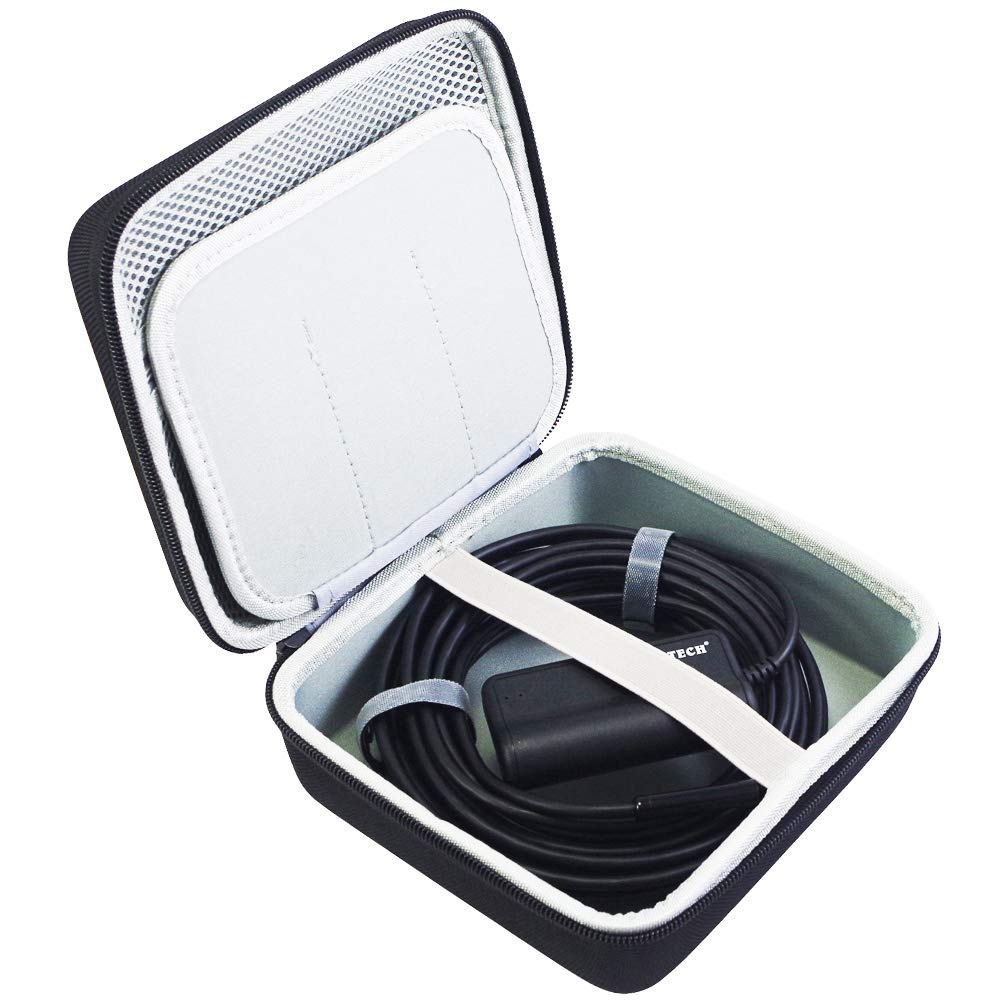 COMECASE Hard Carrying Case for Depstech WiFi & USB Endoscopes and Goodan, Shekar, Pancellent, Fantronics, Sokos, MiluoTech More Borescope/Accessories Pockets for Side View Mirror