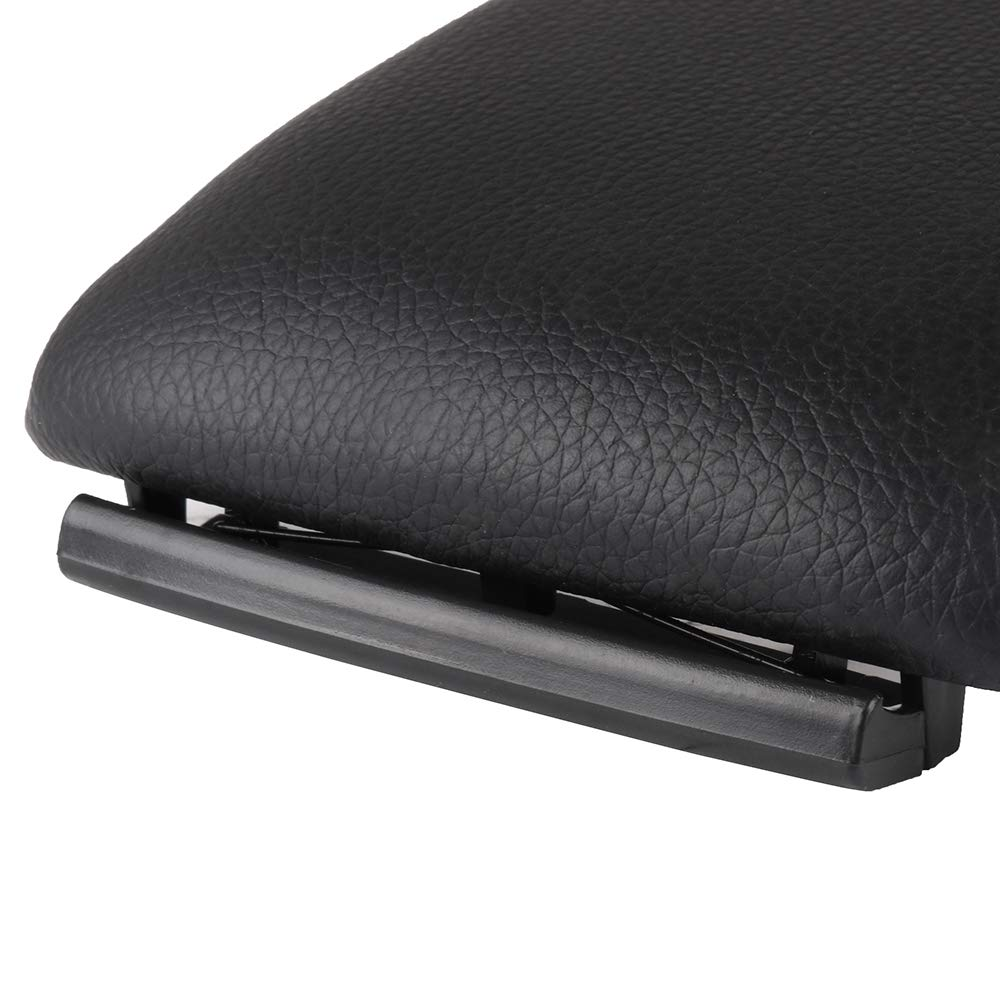 Base for 00-08 Audi A4 A6 S4 OCPTY Auto Armrest Center Console Lid Skin Cover Black