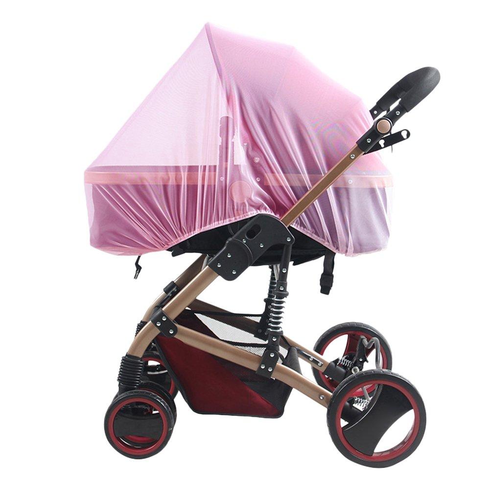 RoseSummer Infants Baby Stroller Pushchair Mosquito Net Safe Mesh Buggy Crib Netting (Pink)