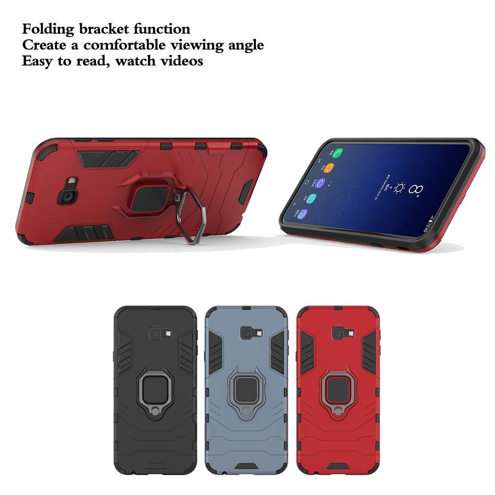 Funda para Soporte de Anillo no Incluye un Soporte magn/ético Protector de Pantalla - Nero Compatible con el Soporte magn/ético para autom/óvil DESCHE para Funda Samsung A7 2018 Funda A750