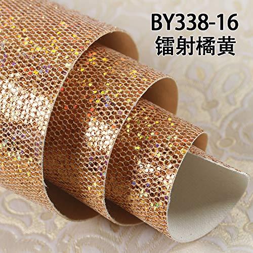 Jhyhome Flash Wallpaper Flash ktv Wall Cloth Flash Wallpaper high-Grade Gold Laser Sequins Reflective Wall Cloth, Laser Orange