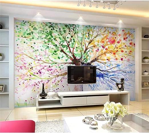 Amazon Co Jp Mingld Custom 3d Wallpaper Mural Living Room Bedroom Star Wars Aircraft Game Touring Rainbow Tree Modern Mural 280x200cm Diy Tools Garden