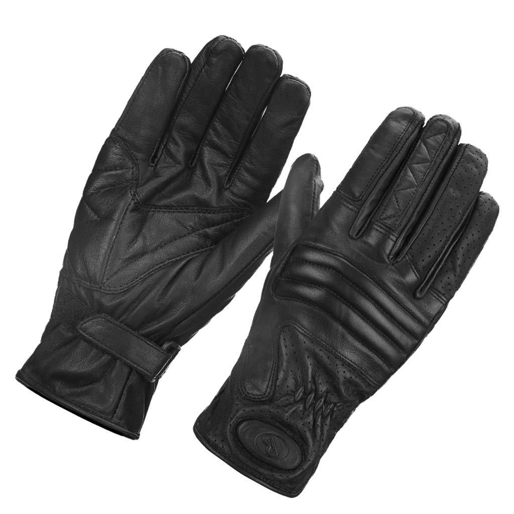 HU Retro Lederhandschuhe Motorrad Männer und Frauen Reiten Persönlichkeit Bruchsicher Handgemachte Handschuhe