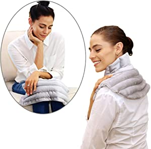 Heating Pad Solutions Premium Holiday Gift Set of Shoulder and Neck Heating Pad with an All Purpose Microwavable Heat Pad for Pain Relief and Relaxation - American Made Hot Packs (Lavender Scented)