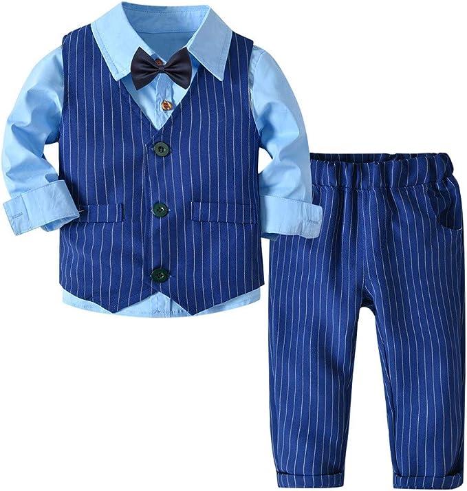Amazon.com: Conjunto de traje para bebés y niños, 3 piezas ...