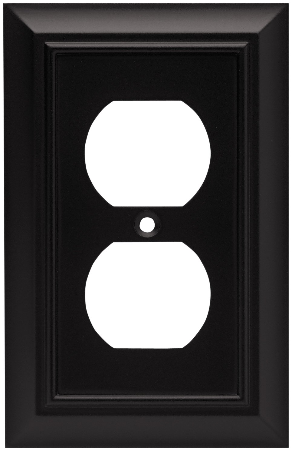 Brainerd 64218 architectural single duplex outlet wall plate brainerd 64218 architectural single duplex outlet wall plate switch plate cover flat black black light switch cover amazon sciox Gallery