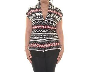 American Living Womens Fair Isle Pattern Sweater Vest Black L