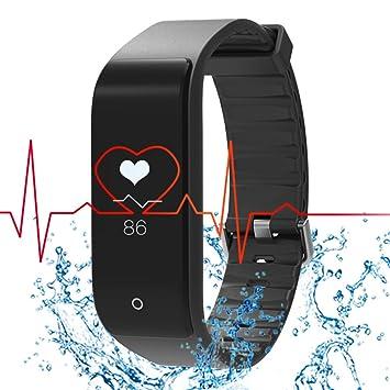 RIVERSONG®Pulsera Deportiva Reloj Inteligente Fitness Tracker Monitor de Frecuencia Cardíaca Pulsera Deportiva Pulsera de