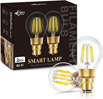 Smart WiFi B22 LED Glühbirne Birne Lampe Licht Für Amazon Alexa Google Voice App