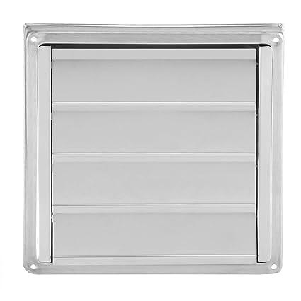 Rejillas de aire, acero inoxidable para filtro de aire con cubierta de mosquitera para ventilación de ...