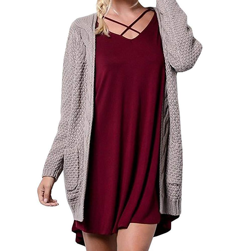 Lljin Womens Long Sleeve Knitwear Open Front Cardigan ...