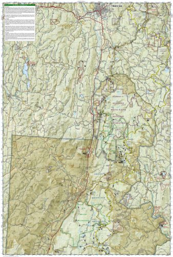 Green Mountain National Forest Map Pack Bundle National Geographic Trails Illustrated Map
