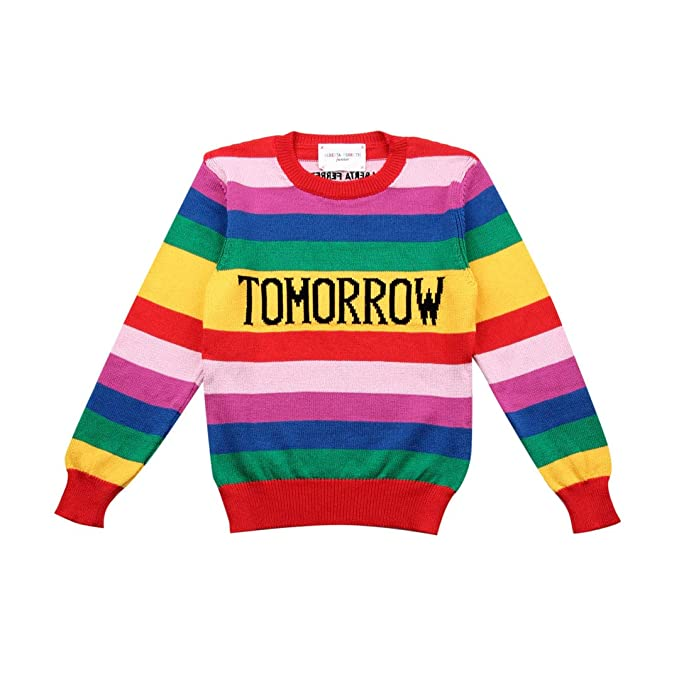 buy popular 54a71 3d4b2 Alberta Ferretti Junior Maglia Rainbow Week Bambino Kids ...