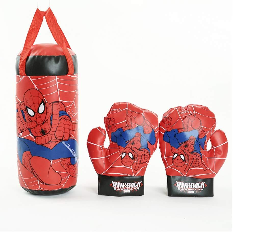 ヒップトップ 子供用ボクシンググローブ インフレータブルサンドバッグ ハンギングスポーツセット キッズ spider man